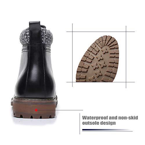 La Milano Men's Leather Cap Toe Lace Up Winter Casual Dress Boot Classic Comfortable Dress Shoes for Men