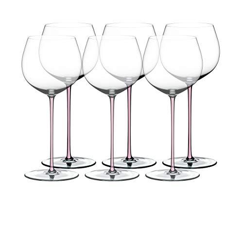 RIEDEL Fatto A Mano Oaked Chardnay 7900/79-1 - Juego de 6 Copas de Vino (Cristal, 620 ml), Color Rosa