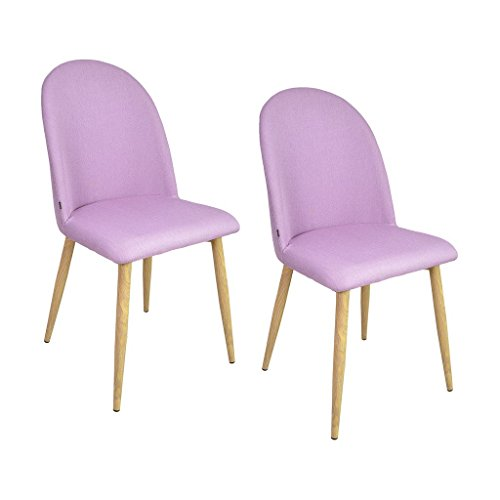 Zons AYA lot de 2 chaises salle a manger scandinave ROSE 45,5x47xH87,5cm