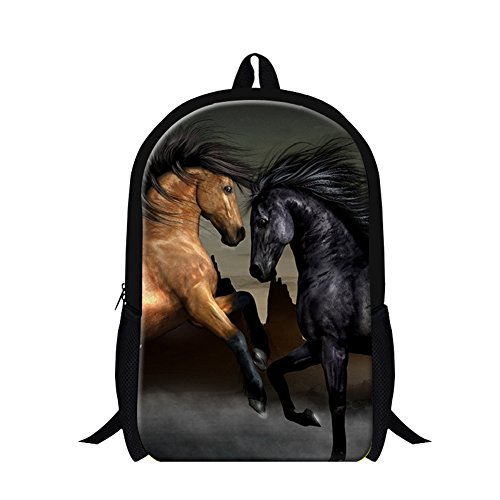GIVE ME BAG Generic Adults Traveling Backpack Children Horse Bookbags for School