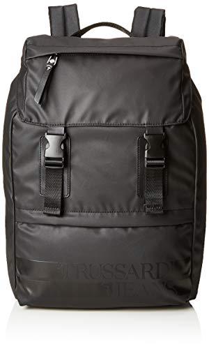 Trussardi Jeans Turati Rubber Nylon Backpack, Zaino Uomo, Nero...