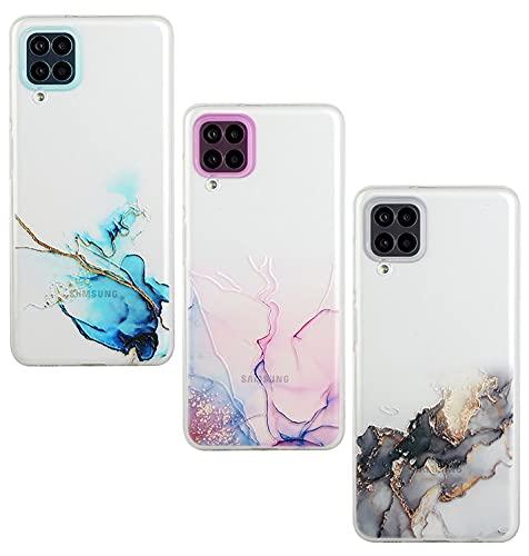 Amlope Funda para Samsung Galaxy A12, TPU Estuche Delgado para teléfono Celular con Patrón Dulce Funda Protectora de Silicona mármol a Prueba de Golpes Estuche Caso Flexible