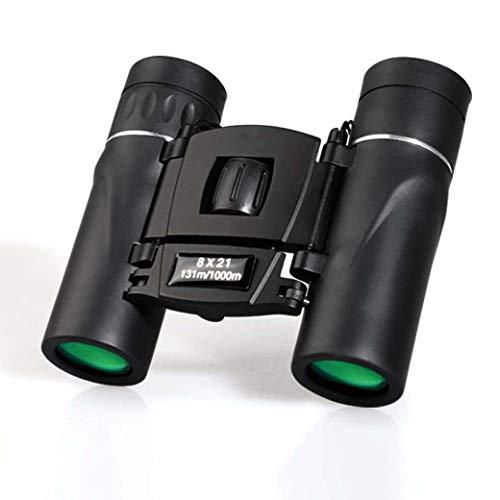 ZTYD 8X21 Compacte verrekijker voor kinderen volwassenen, HD vouwzakken druk en schokbestendige verrekijker voor wandelen vogels kijken jacht sport