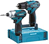 Makita LCT204J Pack de 2 Machines en coffret Makpac avec 2 batteries 10,8 V 1,3 Ah