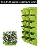 Groust Pflanztaschen Wand Montiert Hängende Vertikal Bepflanzung Taschen Taschen Pflanztaschen Hängend Grün Wachsen Pflanzer Taschen Für Haus Wand Balkon Garten Versorgung