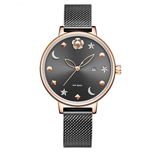 YQCH Relojes de Mujer Reloj de Lujo Moda Cuarzo Cuarzo Mira Reloj Reloj de Pulsera Ultra-Delgada Reloj de Pulsera para Mujer (Color : C)