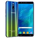 Moviles Libres 4G 6.0 Pulgadas, Android 9.0 3GB RAM 16GB ROM/128GB TF Teléfono Móvil Libre Quad-Core Dual SIM 4800mAh Smartphone Libre Cámara 8MP Face ID Moviles Buenos (Dorado)