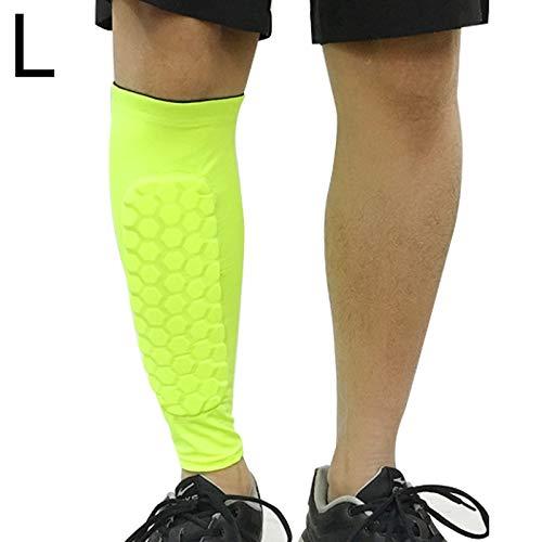 HUANGMENG Calcetín de fútbol anticolisión Polainas de Baloncesto al Aire Libre Montañismo Montar Tobillo Proteger la Pantorrilla Calcetines Engranaje Protector, tamaño: XL