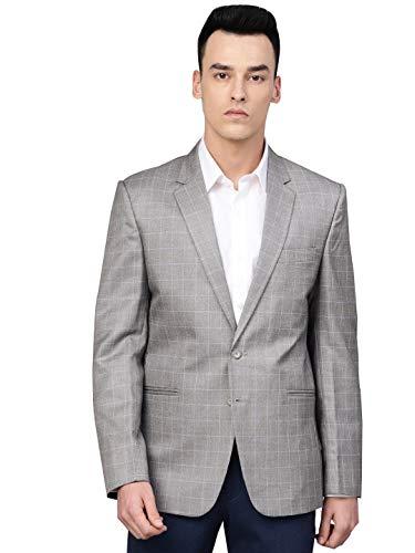 MANQ Men's Slim Fit Single Breasted Blazer (MBCP-17-42_Multicolored_42)