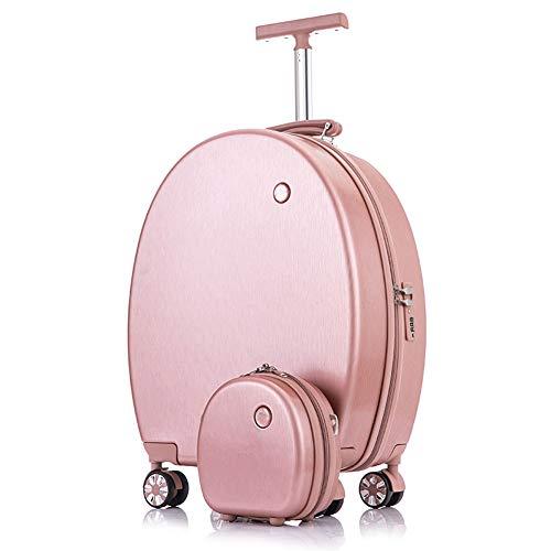20 inch (56cm) Draag op ABS Bagage TSA Lock Lichtgewicht Duurzame Hard Shell 4 Spinner Wheels koffer - Rose Golden