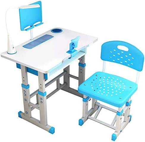 GuangYuan Kids Desk Great interest and Chair Tabl New popularity Set Adjustable Combined Study