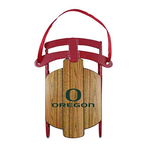 NCAA Oregon Ducks Metal Sled Ornament
