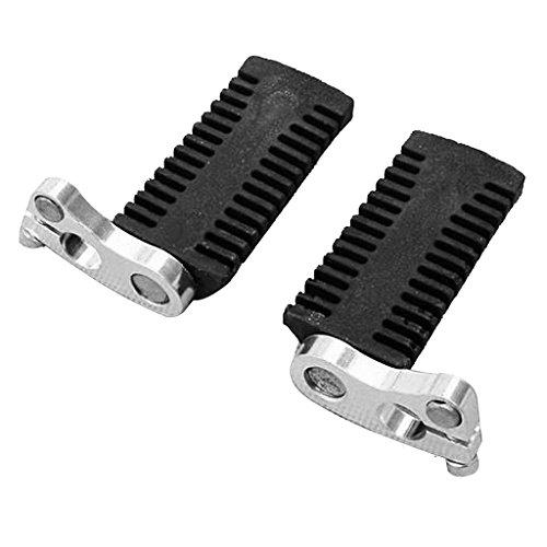 WBBNB Motorcycle Foot PEG Rest Pedals, floor boards compatible with 43cc 47cc 49cc mini moto pocket bike etc 1 pair 12mm