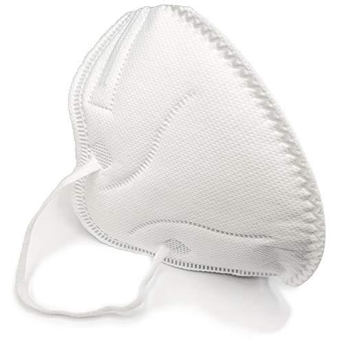 AUPROTEC 10 Stück Premium Mehrweg Mundschutz Maske mit innen liegendem Vlies 4 lagig sehr gut für Mund- und Naseschutz