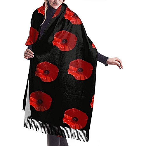 Cathycathy Nenne me gewoon MOHN mannen en vrouwen winter lange kasjmier sjaal
