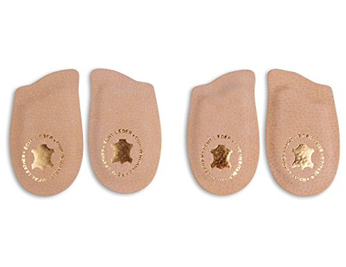 Die Schuhanzieher 2 Paar Fersenpolster aus echtem Leder für Pumps & High Heels z1013(35-37)