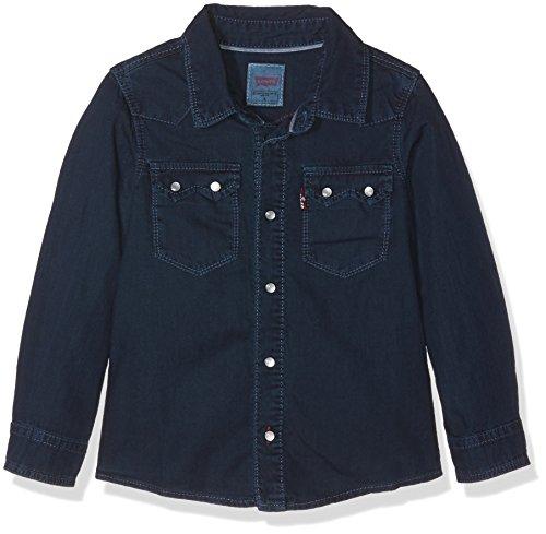 Levi's Barnab Camisa de Vestir, Azul Oscuro, 14 años (164) Niño