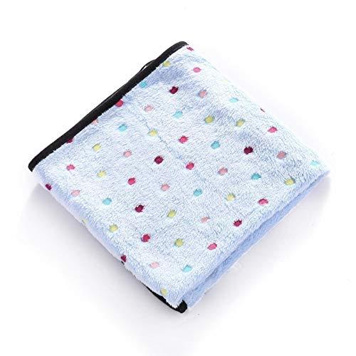Manta suave y linda para gatos y perros, de tela de forro polar, colchón acolchado para mascotas, tamaño pequeño, color azul