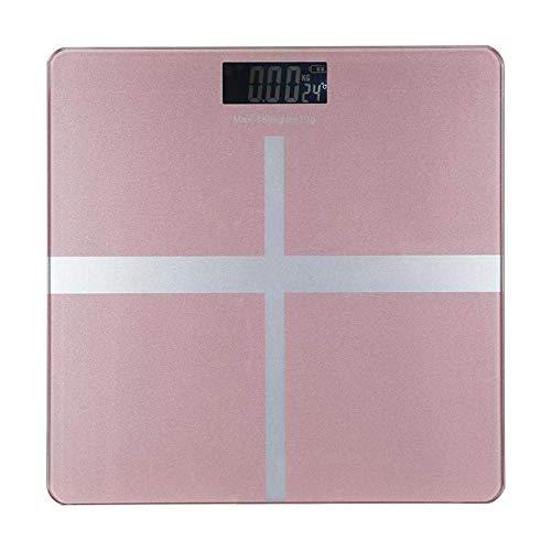 GNLIAN HUAHUA Escala de pesaje de Balanza báscula de baño, Digital de Gran precisión de retroiluminación de LCD Pantalla de Temperatura Escala de Peso Corporal, 180Kg / 400lb