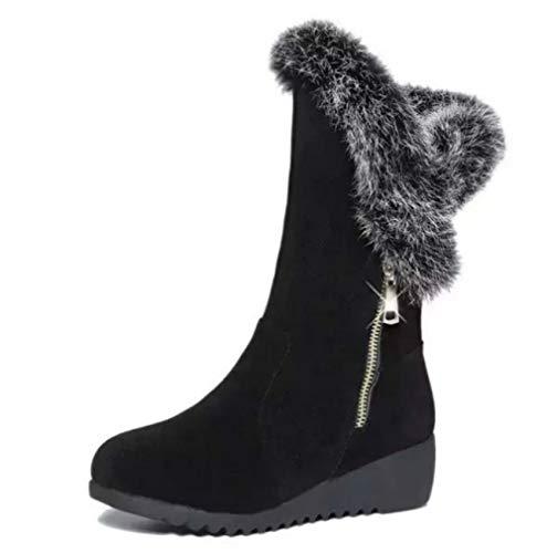 XBRMMM Bedeckter Damen Schnee Regen wasserdichte Yeti Winterstiefel Schneestiefel Vielseitige Flache Stiefel mit Dicker Krempe und hohen Stiefeln für Damen