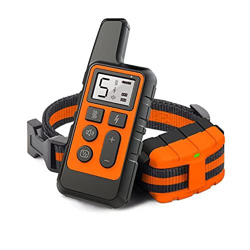 Cuello de entrenamiento de perros anti-ladridos a prueba de agua, recargable, anti-ladrido automático, entrenador de mascotas de 5 niveles, con sonido de advertencia, vibración, entrenamiento seguro d