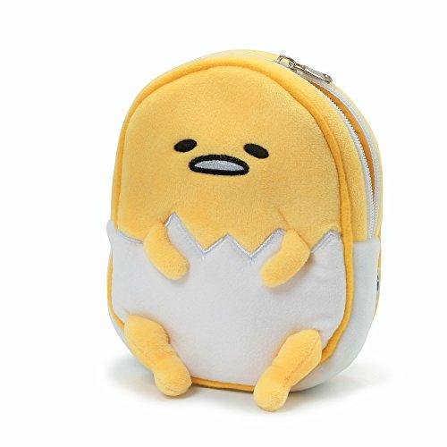 GUND Sanrio Gudetama The Lazy Egg Stuffed Animal Plush Zipper Pouch, 6.5'