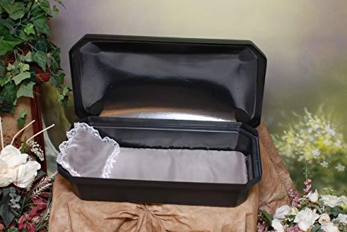 Newnak's Pet Caskets-Pet Casket Black/Silver (3 Sizes) Standard (Small)
