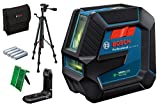 Bosch Professional Laser Level GLL 2-15 G (green laser, interior, LB 10 mount, tripod BT 150, visible working...