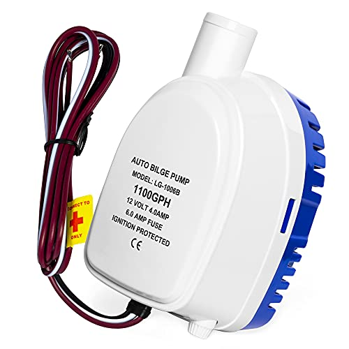 Automatic Bilge Pump 12V 1100GPH Submersible Boat Bilge Water Pump Auto with Float Switch Bilge Pump for Boat