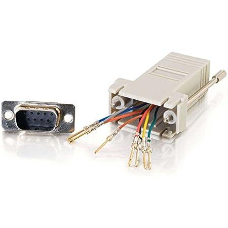 Amazon.com: C2G 02945 RJ45 to DB9 Male Serial RS232 Modular Adapter, Gray:  Home Audio & TheaterAmazon.com