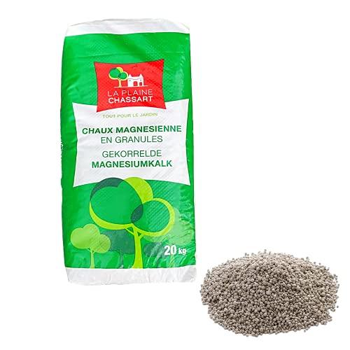 La Plaine Chassart - Chaux Magnésienne en Granules 20kg - Amendement pour Sol Acide - Gazon, Pelouses, Jardin d'ornement, Potager, Compost
