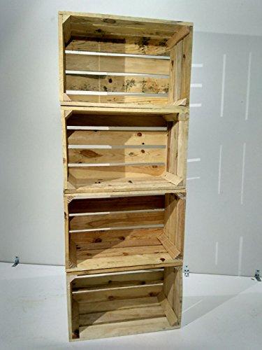 Set 4 Cajas DE Madera Pino Natural Vintage