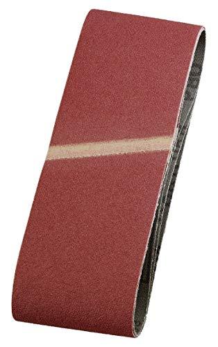 kwb 911904 Ponçage de Tissu 3X, 75 X 457 mm, K-40, Corindon de Haute Qualité, et Bois Métal, Papier Abrasif pour Ponceuse À Bande/Meuleuses