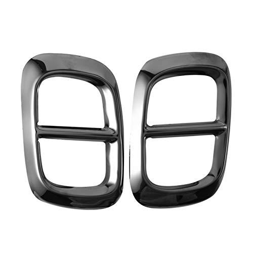 BENGANG Ajuste para Mercedes Benz GLB X247 2020+ Coche Coche Trasero Tubería de Escape Tapa Accesorios para silenciador Accesorios de Acero Inoxidable 2 a 4 Agujero (Color : Black)