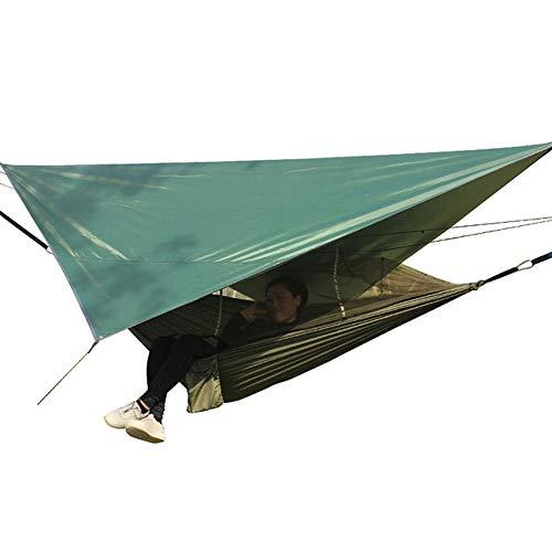 Rain City Pare-Soleil avec hamac UV Sun Block Voile d'ombrage Auvent, hamac Portable étanche légère pour Jardin, Camping, randonnée pédestre, randonnée, Voyage, Plage,Vert