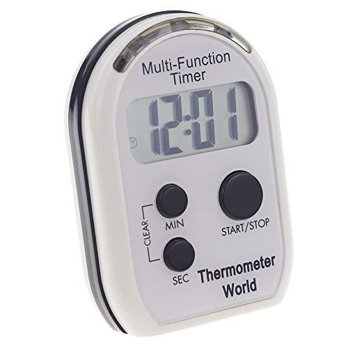 Minuteur multifonction avec alarme sonore, vibrante et clignotante et fonction de compte à rebours, idéal pour les malvoyants et malentendants