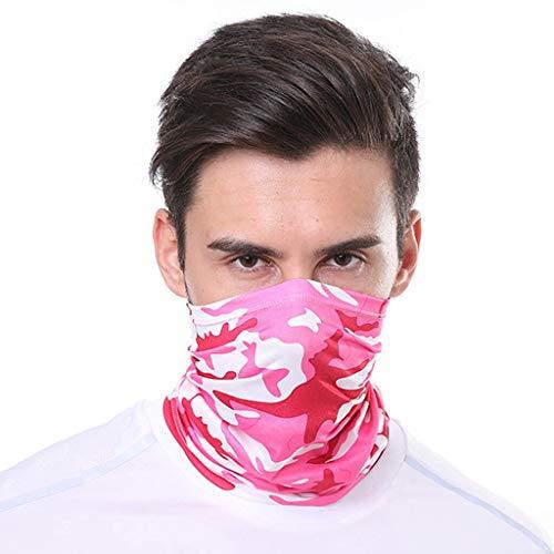 YWCXMY-LDL Stampa di Modo all'aperto Annata di Sport della Bicicletta del Collo del Tubo Bandana della Polvere del Fronte Maschera Antipolvere (Color : Hot Pink)