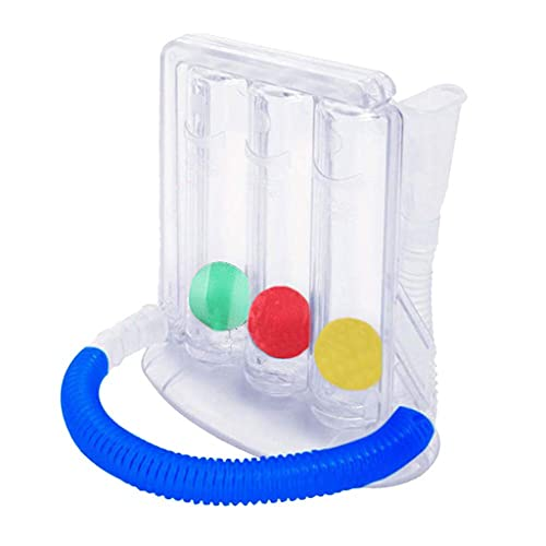 TEBI Ejercicios de respiración profunda de 3 bolas de capacidad dispositivo de entrenamiento incentivo espirometría Ejercicios de respiración y mediciones