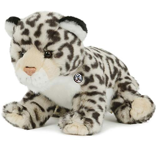 Kuscheltiere.biz Leopardo de las nieves de peluche sentado