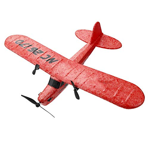 Caredy RC Flugzeug Fernbedienung FX-803 2.4GHz Elektro Starrflügel Flugzeug Segelflugzeug flugfertig RC Flugzeuge Einfach und flugfertig für Erwachsene oder fortgeschrittene Kinder(rot)