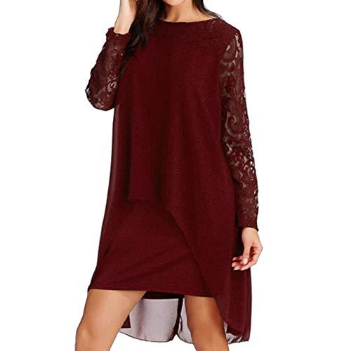 Vectry Vestidos Rojo Vestidos Casuales Juveniles Vestidos De Coctel Cortos Elegantes Vestidos De Mujer Tallas Grandes Vestidos De Verano De Gasa Vestidos para NiñaVestidos Encaje Cortos
