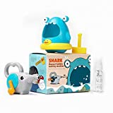 Lightaling Shark Bath Bubble Toys for Toddler ,Bubble Blower Bubble Machine Bathtub Pool Toys for Children,Baby and Kids