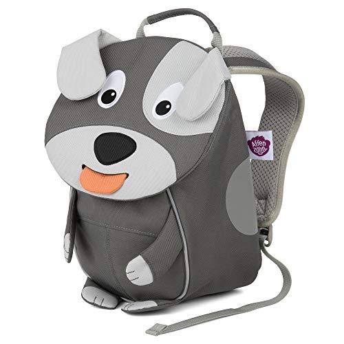 Affenzahn Kinderrucksack für 1-3 Jährige im Kindergarten - Hugo Hund - Grau