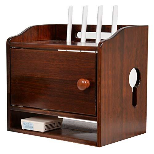 Caja de almacenamiento de control remoto WiFi, soporte para decodificador de suelo, sin bloqueo de señal, diseño de tres capas, adecuado para sala de estar y dormitorio/A / 32cm