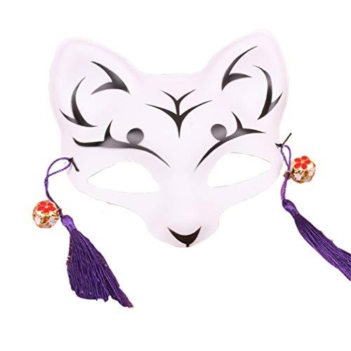 Happyyami Máscara Kitsune Máscara de Zorro japones Cosplay