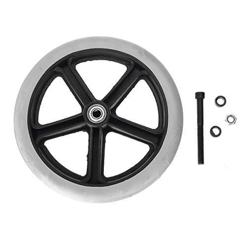 C-Funn Ersatzrollen für Rollstuhlräder, 200 mm, grau, klein, abriebfest, universell