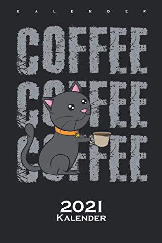 Katze Kaffee Comic Kalender 2021: Jahreskalender für Katzen- und Tierfreunde