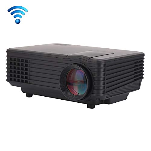 Tangyongjiao Video projectors RD-805 Android WiFi LED Projector 800LM 800x480 Home Theater with Remote Controller, Support HDMI, VGA, AV, USB Interfaces(Black) (Color : Black)