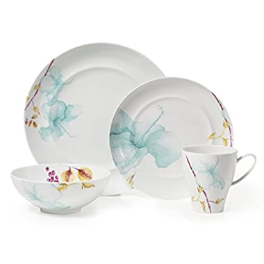 Mikasa Aliza Teal 4-Piece Place Setting Dinnerware Set