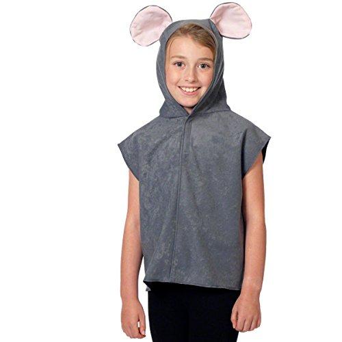 Unbekannt Charlie Crow Maus Kostüm für Kinder - Grau - Einheitsgröße 3-8 Jahre.